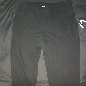 Black jeggings
